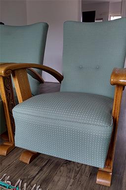vintage fauteuil in de woonkamer